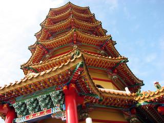 台湾 蓮池潭の龍虎塔