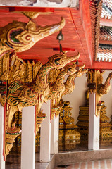 Interior of a Buddhist temple in Thailand