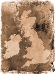 Grunge UK map