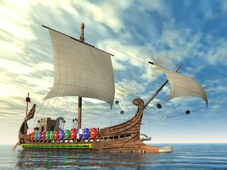 Altes römisches Kriegsschiff