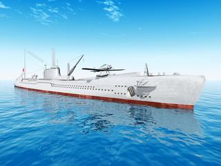 Japanisches Unterseeboot aus dem zweiten Weltkrieg
