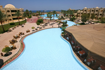 pool for relaxing and swimming in Egypt