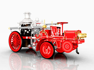 Retro Fire Engine