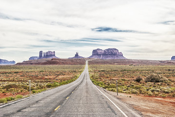 The entrance to the Monument Valley