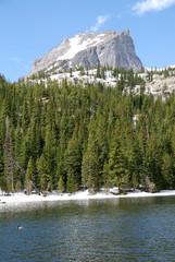 Wall Mural - Bear lake et Hallett peak, Rocky Mountain National Park, CO, USA