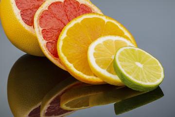 Wall Murals Slices of fruit Orangenscheiben