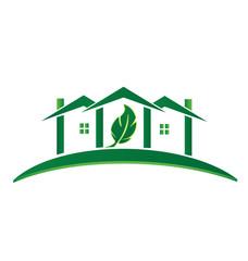 Green House ecology concept recycling logo vector