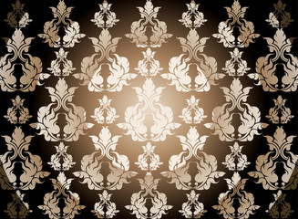 Brown color art pattern seamless vector background