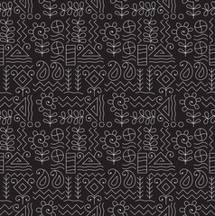Seamless tribal background