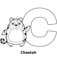Coloring Alphabet for Kids, C