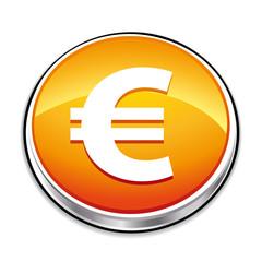 Orange euro icon button.