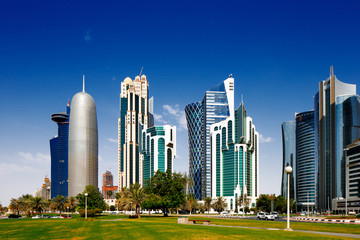 West Bay is the newly developed urban center of Doha, Qatar