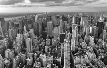 New York City. Wonderful panoramic aerial view of Manhattan Midt