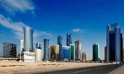 The West Bay district of Doha, Qatar