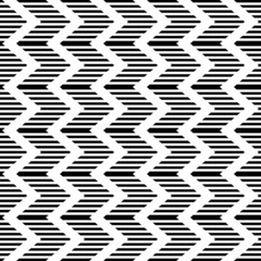 Seamless geometric zigzag pattern. Striped texture.