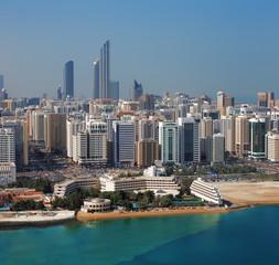 A skyline view of Abu Dhabi, UAE's capital city