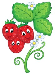 Image with strawberry theme 1