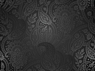 Seamless royal paisley wallpaper