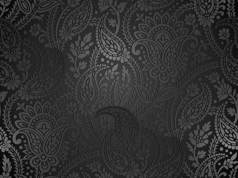 Seamless royal paisley wallpaper