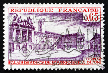 Postage stamp France 1973 Palace of Dukes of Burgundy