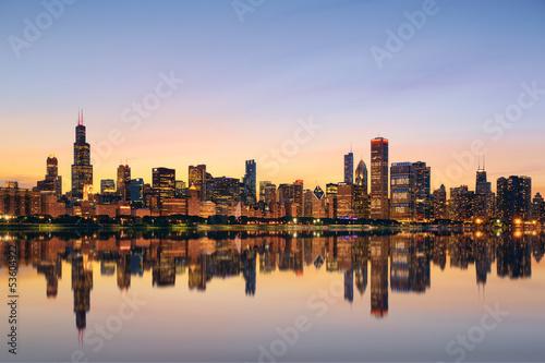 Wall mural Chicago skyline