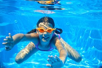 two underwater girls
