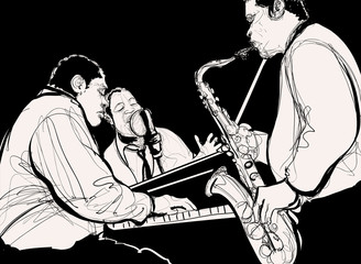 Etiqueta Engomada - Jazz band