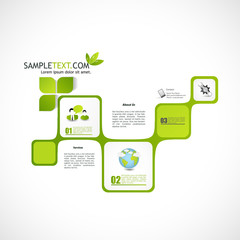 abstract green web design