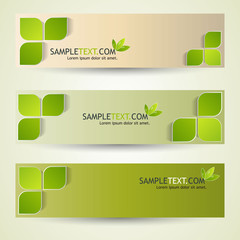 green header design