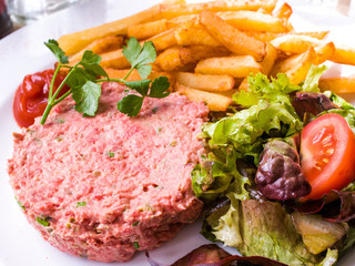 tasty Steak tartare (Raw beef)