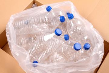 Bottles of water .