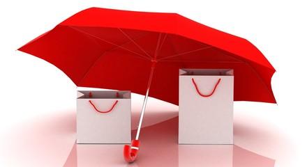 shopping security (umbrellas, bags)
