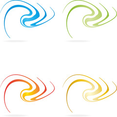 Logo, 3D, Spirale, Welle, abstract swirly, wave