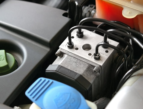 Antilock braking system abs, closeup