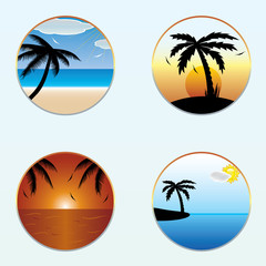 Round shape summer banners.