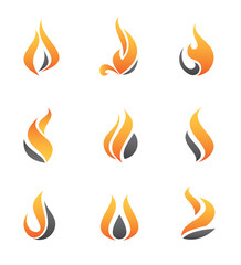 Fire symbol and icons