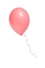 Ein Luftballon auf weißem Hintergrund isoliert