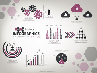 Infographics  Design template. Vector