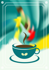 Coffee menu card. Vintage vector illustration.