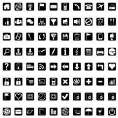 Icons for web - black
