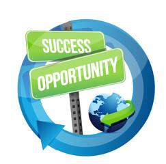 success opportunity street sign illustration