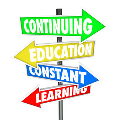 Continuing Education Constant Learning Street Signs