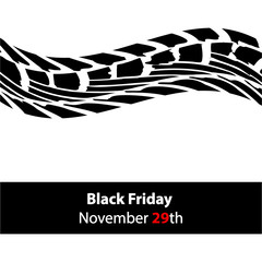 special black friday banner with tire design