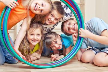 Five cheerful kids