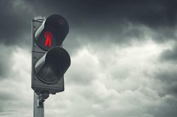 Red traffic light Fotomurales