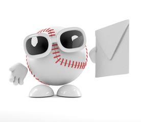 Baseball uses the postal system