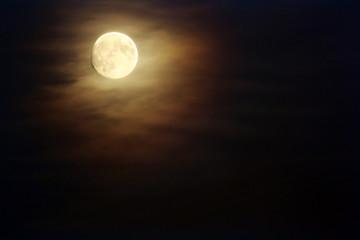 Moon on dark skies