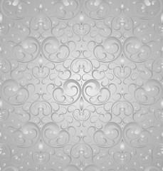 Seamless royal damask wallpaper
