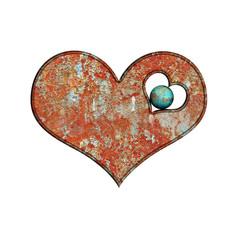 beauty Heart rust