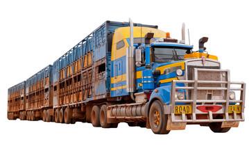 Road train in the Australian outback